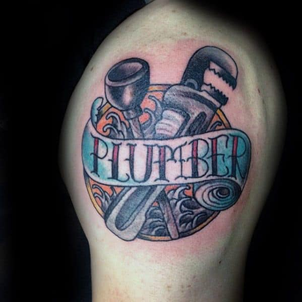 Manly Plumbing Tattoo Design Ideas For Men