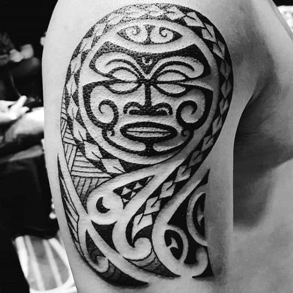 50 polynesian arm tattoo designs for men manly tribal ideas for Tribal tattoos for men forearm