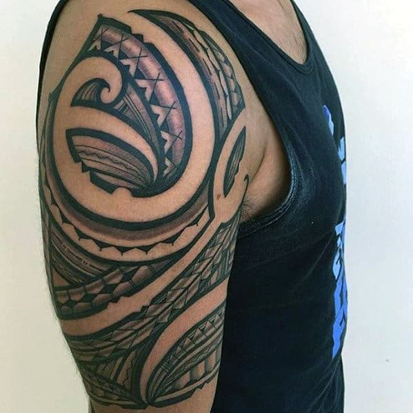 50 polynesian arm tattoo designs for men manly tribal ideas. Black Bedroom Furniture Sets. Home Design Ideas