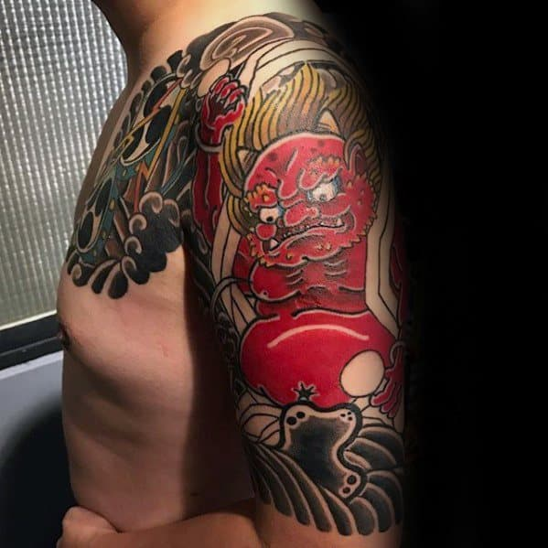 Manly Raijin Tattoo Design Ideas For Men