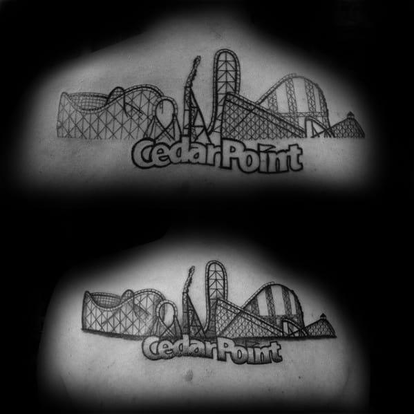 30 Roller Coaster Tattoo Designs For Men – Amusement RideIdeas