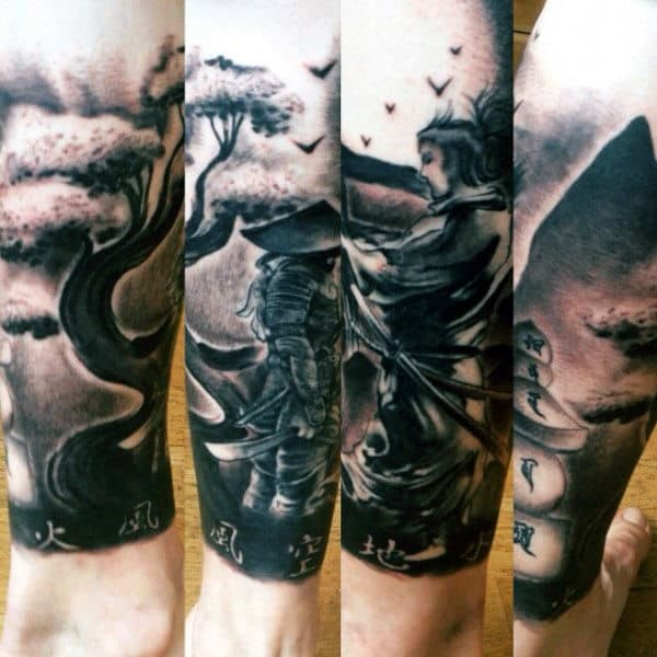 Manly Samurai Japanese Tattoo Designs