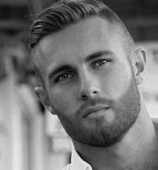 Great Manly Shaved Sides Hairstyle For Men