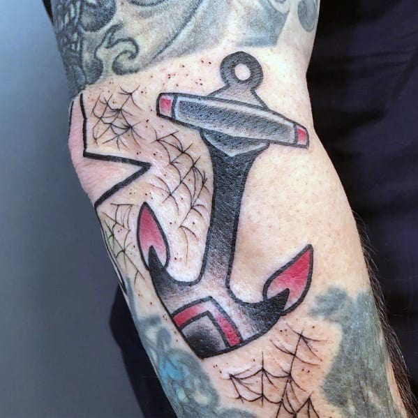 Manly Simple Anchor Tattoos For Males