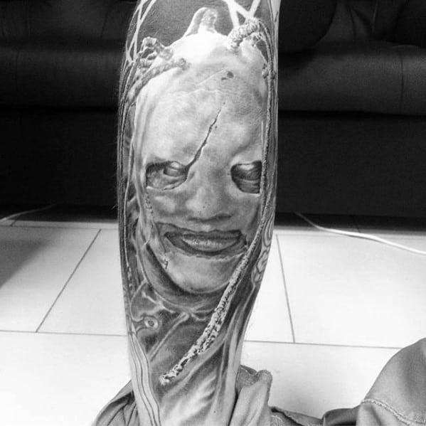 Manly Slipknot Tattoo Design Ideas For Men On Legs