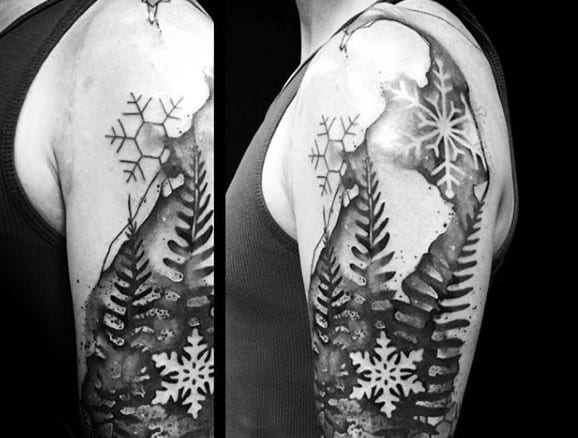 Manly Snowflake Arm Tattoos For Men