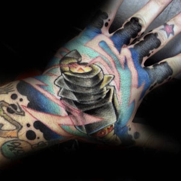 Manly Spark Plug Hand Tattoos For Guys