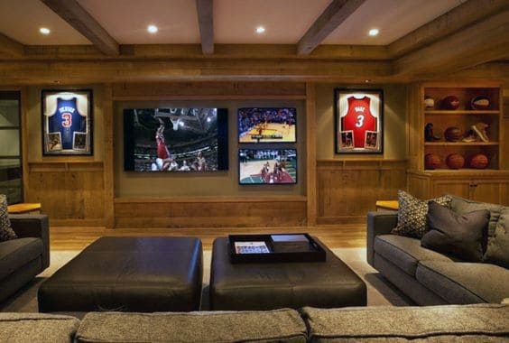 basement ideas. Manly Sports Basement Lounge Room Design Ideas