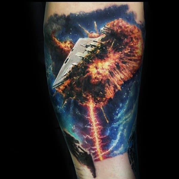 Manly Star Destroyer Tattoo Design Ideas For Men