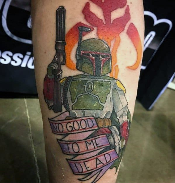 40 Mandalorian Tattoo Designs For Men Star Wars Ink Ideas