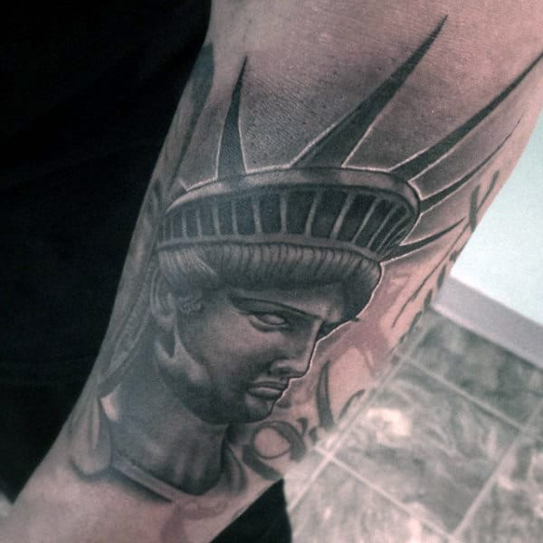 Manly Statue Of Liberty Tattoo