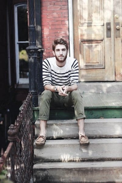 Manly Summer Outfits Male Style Ideas Striped Shirt Green Pants