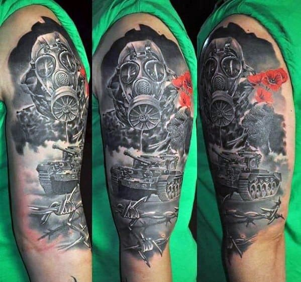 Manly Tank Tattoo Design Ideas For Men