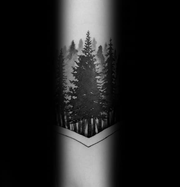 Manly Tree Line Tattoos For Males