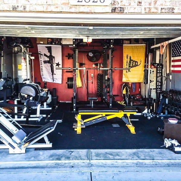 Manly Two Car Garage Gym Ideas