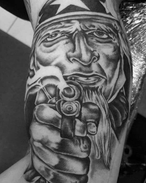 Manly Uncle Sam Arm Tattoo Design Ideas For Men