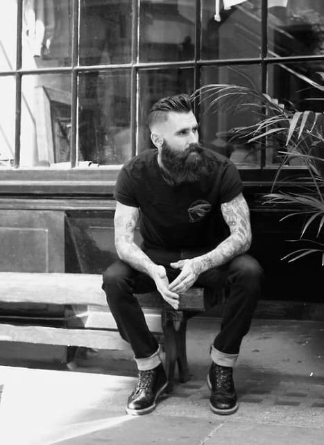 Manly Undercut Slicked Back Haircut For Gentlemen With Beards