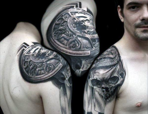 Manly Unique Skull Mens Shoulder Tattoos