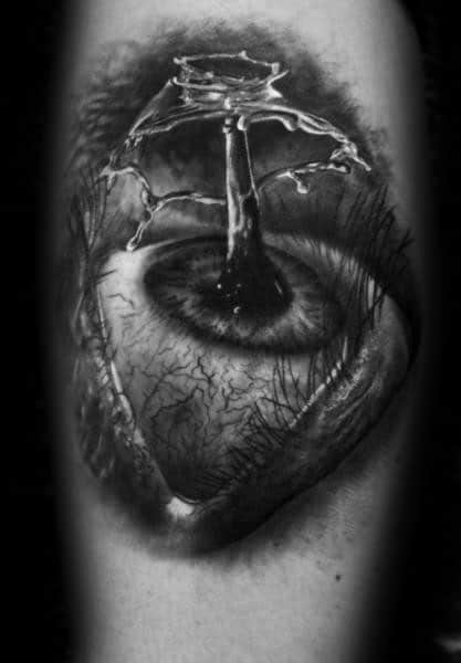 Manly Water Drop Tattoo Design Ideas For Men