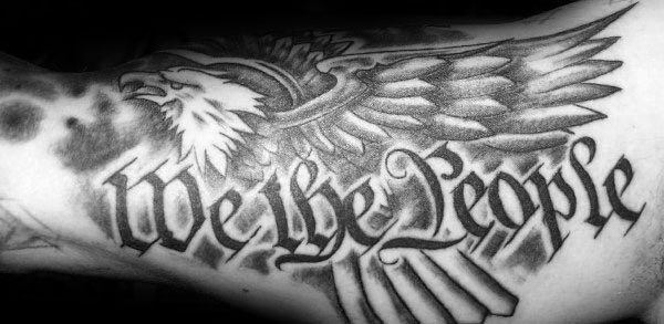 Manly We The People Eagle Male Arm Tattoo Design Inspiration