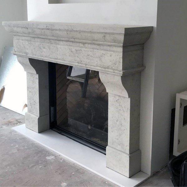 Mantel Concrete Fireplace Design Inspriation