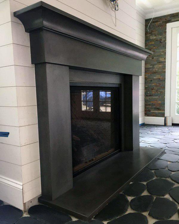 Mantel Concrete Fireplace Design