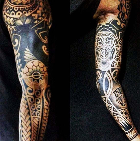 Maori Tattoo Sleeves For Men