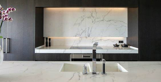 Marble Backsplash Modern Design Ideas Kitchen