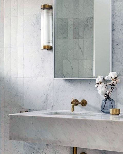 Marble Bathroom Home Designs For Vanity And Wall