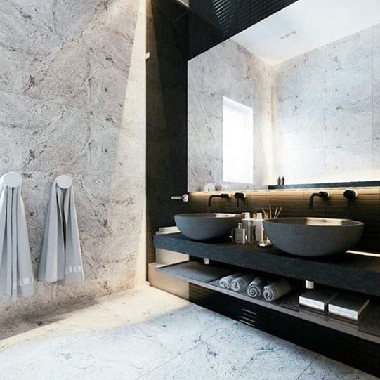 Marble Bathrooms Ultimate Bachelor Pad