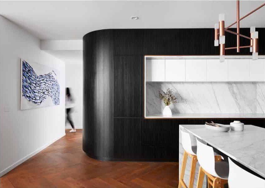 Marble Black And White Kitchen Tomroephotog