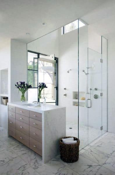 Marble Floors With Glass Shower Master Bathroom Ideas