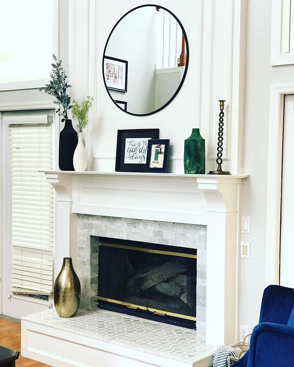 Marble Mantel Decor Ideas Stewartslivingmodern