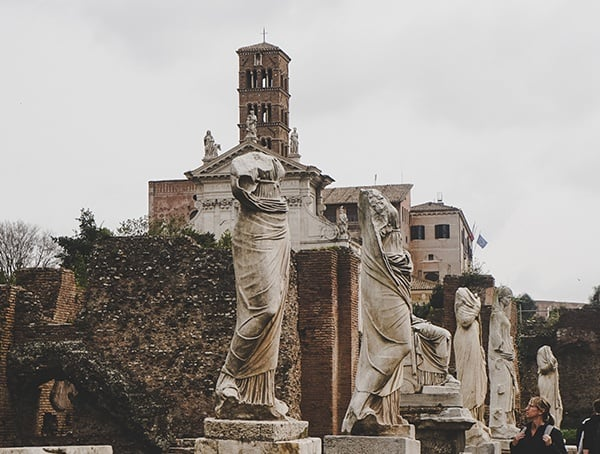 Marble Statues Roman Forum