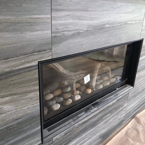 Marble Tile Gas Fireplace Designs