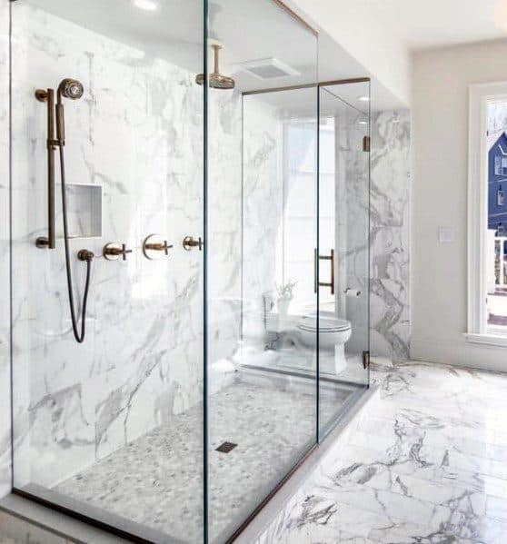 Marble Walls And Tile Floors Home Ideas Master Bathrooms