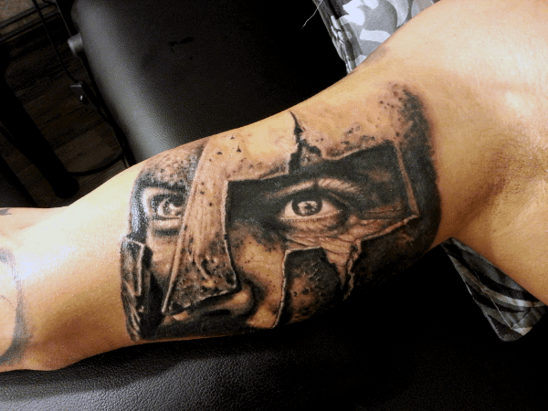 Marching Spartan Men's Tattoo