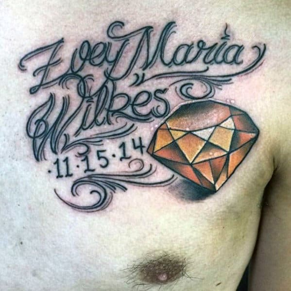 50 Kids Name Tattoos For Men - Cool Children Design Ideas