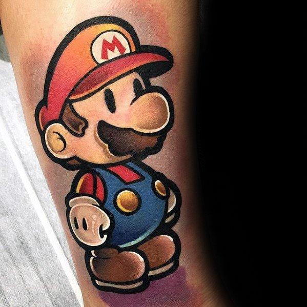 Mario 3d Gamer Mens Tattoos