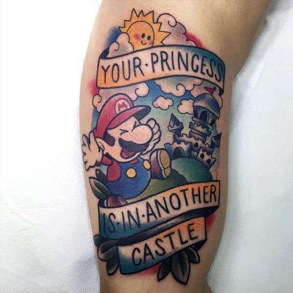 Mario Tattoo Design Ideas For Men