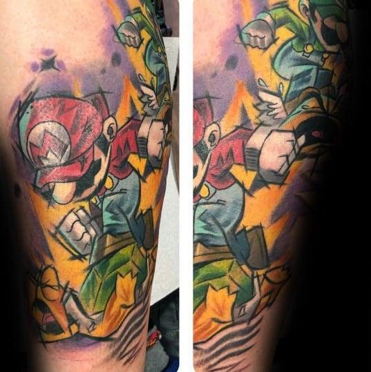 Mario Tattoo Designs For Men