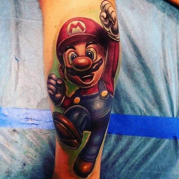 Mario Tattoo Designs On Men