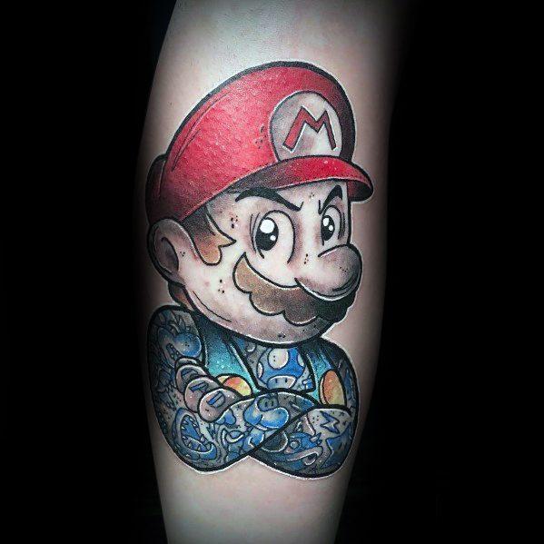 Mario Tattoo For Men