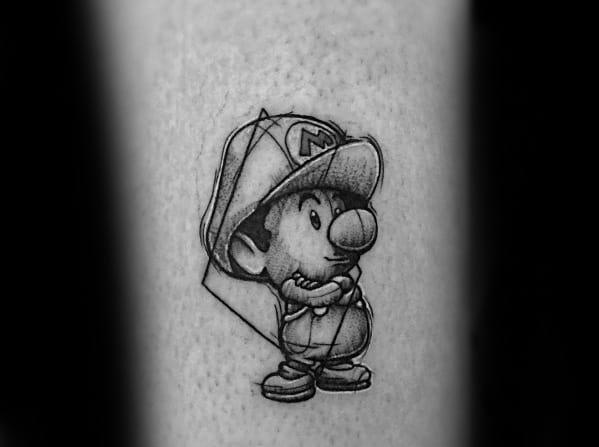 Mario Tattoo Ideas For Men