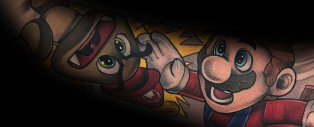 90 Mario Tattoo Ideas For Men – Video Game Designs