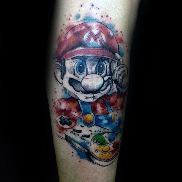 Mario Tattoos For Men
