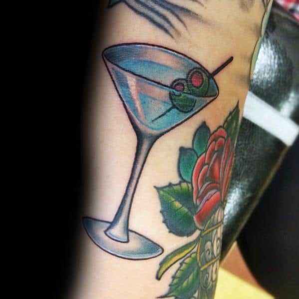 Martini Glass Guys Tattoo Designs