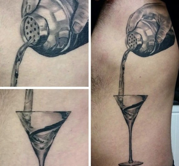 Martini Glass Mens Tattoos