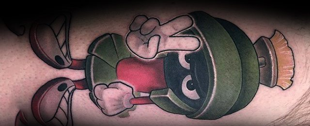 Marvin The Martian Tattoo Designs For Men