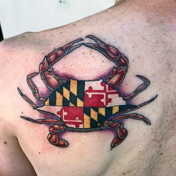 Maryland Flag Guys Tattoo Designs